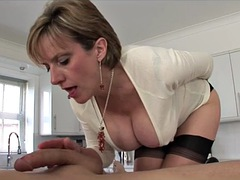 Brittisk, Sperma shot, Hardcore, Milf