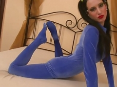 Alice flexi strips naked catsuit