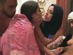 Amateur milf hotel blowjob and group sex games Hot arab ladies try foursome