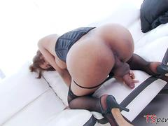 Big cocked guy assfucked an asian transsexual babe