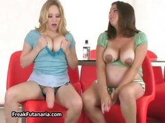 A couple of girls with milk sacks banging element6