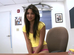 Kitten nude herself in the office and she gets cumshot