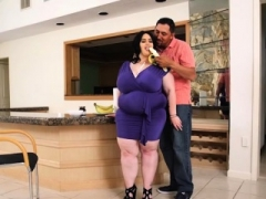 Sexy Large Tit Real bbw Alyson Galen Swallows Banana