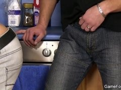 Plumber turns into a homosexual slut boy