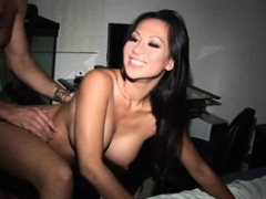 Asiatic cutie pie has fun with a dick