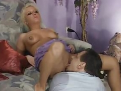 Blonde from Romania get peeing by 4 fellas