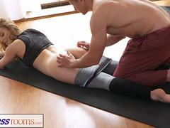 FitnessRooms Dirty yoga teacher on gorgeous fitness model