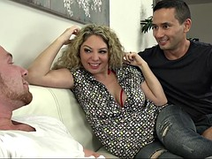 great bisexual threesome experience for hot babe kiki daire