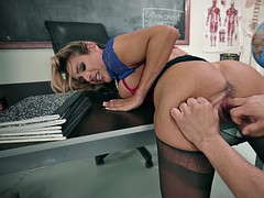 tegan james lets him finger her scorching pussy