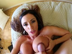Awesome dame gives blowjob , hand plusjob, and plus titjob