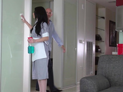 Gorgeous maid Veruca James fucked as she cleans house