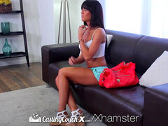 CastingCouch-X - brown-haired Rahyndee James first time drill
