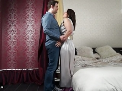 Grown-up British mom with super ass gets young and fresh love pole