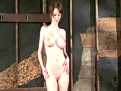 Emily Addison super-sexy body tied and Fucked by Fucking Machine - Orgasms