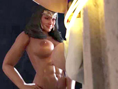 3 dimensional Wonderwoman Futa Powergirl
