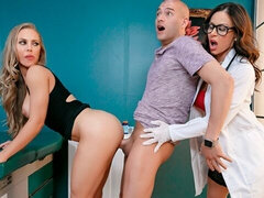 Cute models Kendra Lust and Nicole Aniston are enjoying rough sex
