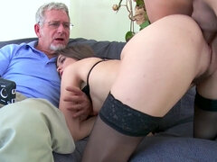 Riley Reid gets her muff stuffed while her cuckold husband shoots it on cam