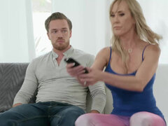 Brandi Love has her son in law worshiping & fucking hard her pussy