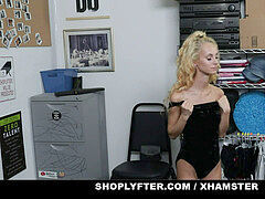ShopLyfter - small blond Caught Stealing Has To suck Cock