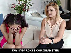 FamilyStrokes - Virgin 18-19 y.o. Learns To Give a blowjob From Mom