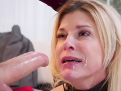 Young girl helps submissive stepmom satisfy dangerous bearded man