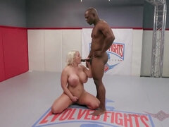 Alura Jenson and WIll Tile go at their grappling match only like the Navy and Marines can