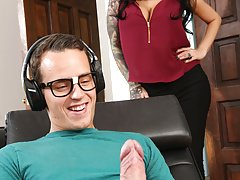 FILF - Stepmom Lily Lane catches son jerking on her digital stills