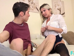 Exciting Blondie housewife Nailed By Her Son's Friend