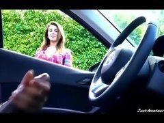 BBC cock flv gal contemplating black guy wanking in car JustAmateurs.tv