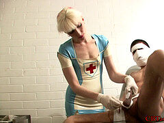 blondie nurse sounding a patient