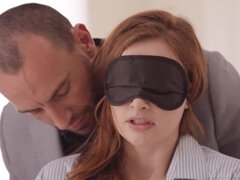 Young Blindfolded Redhead Girl In Erotic Hardcore Video In Italy Venice