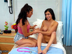 GIRLSWAY hot doc Caught Young Babes Going At It in Exam apartment