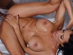 MILF with big boobs loves getting pounded in every sex position