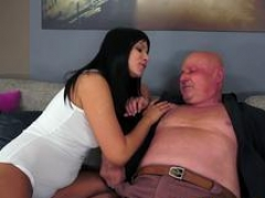 Orally pleased 18-19 year old cocksucking grandpa