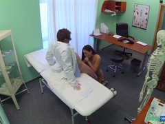Doctor's Cock And Nurse's Tongue Cure Horny Patient's Loss Of Appetite