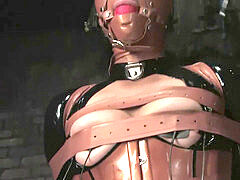 woman in latex bondage and Breathplay