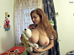 Gorgeous russian teen  with a sizeable set of natural titties