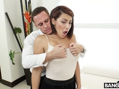 Great-looking MILF with huge boobs Valentina Julz fucks with a new lover