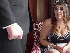 round british maid Lucy pussyfucked