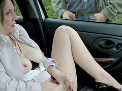 Dogging in Seamed Pantyhose Fragment 2