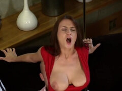 Fucks Exciting Dark Hair Girl And Cum Load On Breasts - roxy taggart