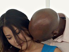 BLACKED Asiatic Babe Jade Luv Screams on Massive Black Cock