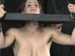 Boobalicious MILF gets bound and whipped