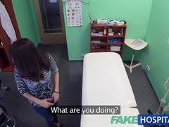 FakeHospital Hot Spanish patient gets fucked hard and furthermore creampied