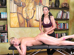 instructor nymph and student damsel at massage shop