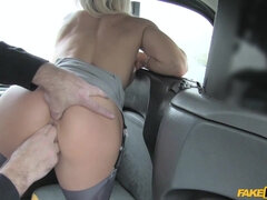 Sexy arse MILF in knee high boots screws cab driver for free ride