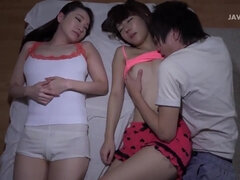 Mommy and stepdaughter threesome: Japanese Asian fetish sex