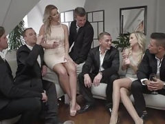Glamkore - Vinna and furthermore Nikky take on five lads for a group fuck