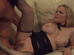 Aiden Starr Fucks In Corsage And Fishnet Stockings