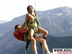 Asian Luoi Mai Bangs in Extreme Outdoor Conditions and When Climbing
